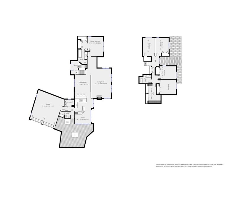 Floor Plan for Stunning Waterfront Contemporary